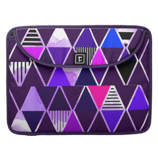 Multi Purple Triangular MacBook Pro Sleeves