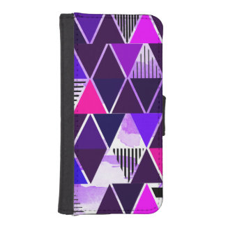 Multi Purple Triangular Phone Wallet