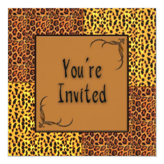 Multi Purpose Animal Print Invitation