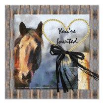 MULTI PURPOSE Country Horse  Invitation