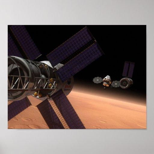 Multi-Purpose Crew Vehicle in mars orbit Poster