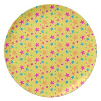 Multi Rainbow Mini Stars - 80s Rock Plate