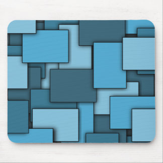 Multi-Rectangle Blue mousepad