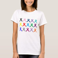 Multi ribbon find a cure cancer  shirt