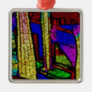 Multi Sensation Color Columns. Metal Ornament