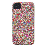 Multi Sequins Reds Sparkle Glitter Bling iPhone 4 Case-Mate iPhone 4 Cases