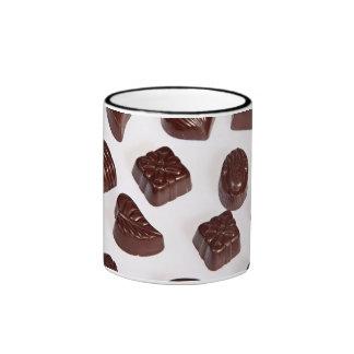 Multi Shape Pralines Ringer Coffee Mug