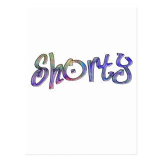 multi shorty postcard