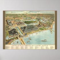 Multi-Size/Birds Eye View Chicago Worlds Fair 1893