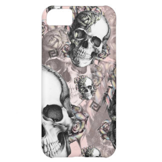 -MULTI SKULL AND ROSES PJ IPHONE CASE- CASE FOR iPhone 5C
