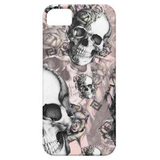 -MULTI SKULL AND ROSES PJ IPHONE CASE- iPhone SE/5/5s CASE
