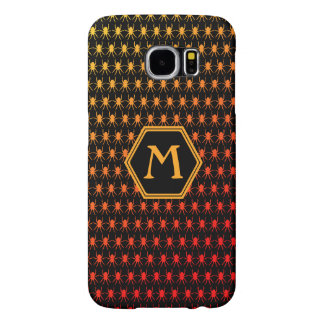 Multi spiders fiery on black Monogram Samsung Galaxy S6 Case