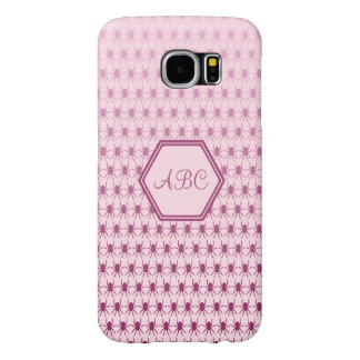Multi spiders pink custom initials samsung galaxy s6 case