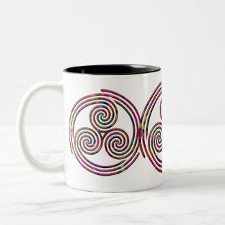 Multi Spiral - White Mug #1