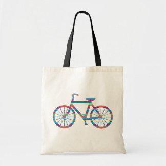 Multi-Stripe Bicycle Tote Bag
