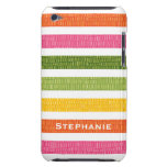Multi Stripe Faux Croc iPod Touch 4g Case Cover Barely There iPod Cases