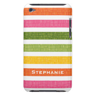 Multi Stripe Faux Croc iPod Touch 4g Case Cover