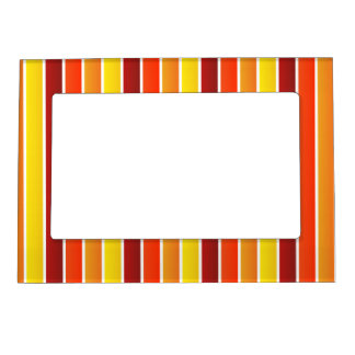 Multi Striped Autumn Colors Magnetic Frame