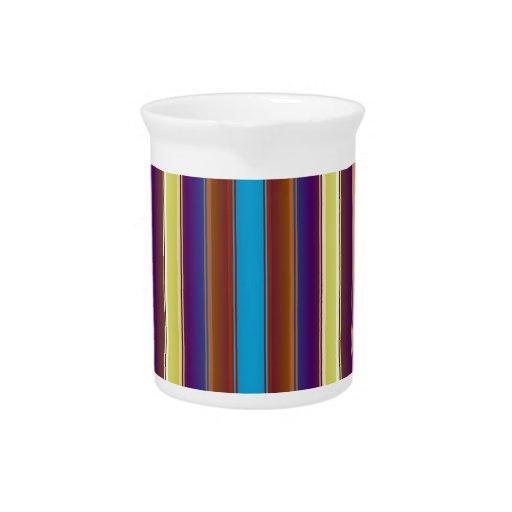 Multi-Stripes Beverage Pitchers