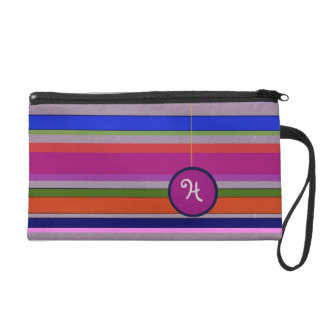 Multi Stripes Retro Monogram Bagettes Wristlet Bag