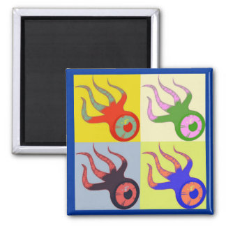 Multi-Talented Squidoo 2 Inch Square Magnet