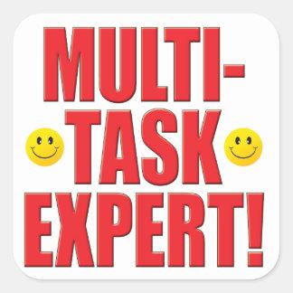 Multi-Task Life Square Stickers