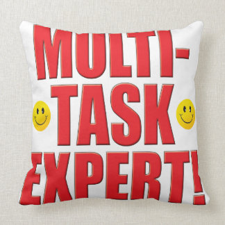 Multi-Task Life Throw Pillow