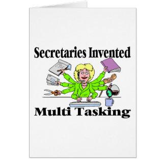 Multi Task Secretary Greeting Card