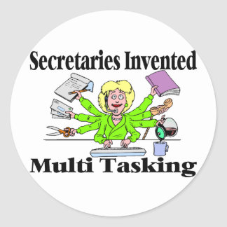 Multi Task Secretary Classic Round Sticker