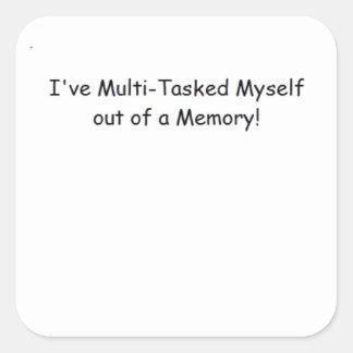 Multi-Tasker Square Sticker