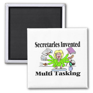 Multi Tasking de secretarias Invented Imán Cuadrado