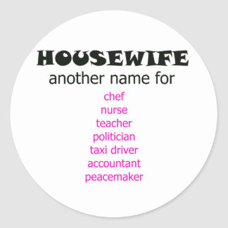 Multi-tasking Housewife Classic Round Sticker