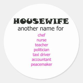 Multi-tasking Housewife Classic Round Sticker