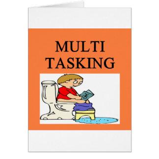 MULTI tasking joke Greeting Card