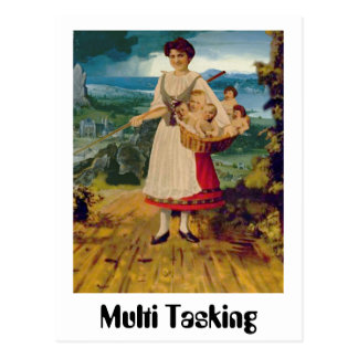 Multi Tasking Postcard