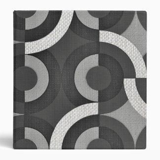 Multi Texture Look Geometric Mod Circles 3 Ring Binder