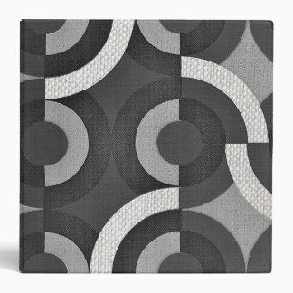 Multi Texture Look Geometric Mod Circles Binder