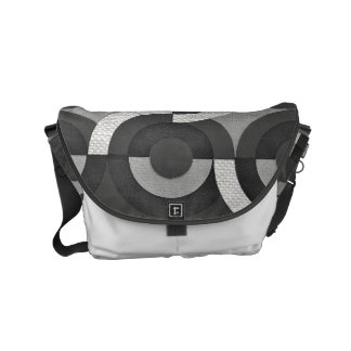 Multi Texture Look Geometric Mod Circles Small Messenger Bag