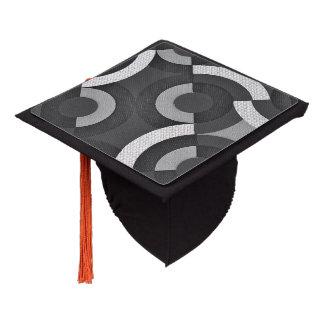 Multi Texture Look Geometric Mod Circles Graduation Cap Topper
