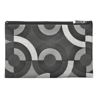 Multi Texture Look Geometric Mod Circles Travel Accessories Bag