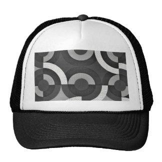 Multi Texture Look Geometric Mod Circles Trucker Hat