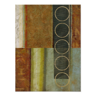 Multi-textured Abstract Painting by Vision Studio Poster