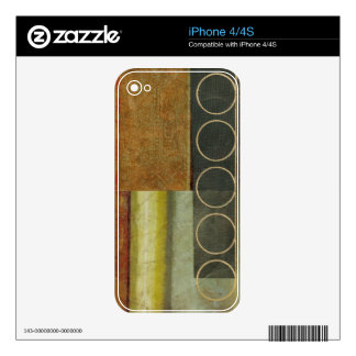 Multi-textured Abstract Painting by Vision Studio Skin For The iPhone 4S