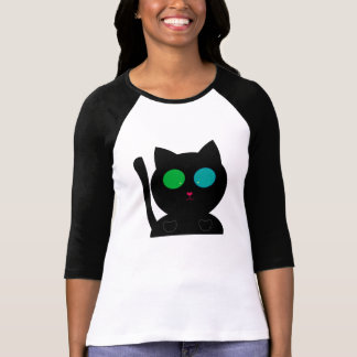 Multi the Cat- Dino Pictures - 3/4 Sleeve Top