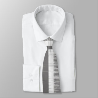 Multi-tone grey striped pattern modern wet paint tie