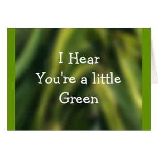 Multi-tono-personalizar verde cualquier ocasión tarjetón