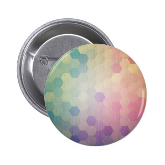 Multi vintage pastel colors pattern grunge chic pinback buttons