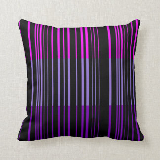Multi Violet Retro Stripes Art Design Abstract Throw Pillow