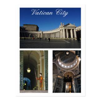 Multi-vista de la Ciudad del Vaticano Postales