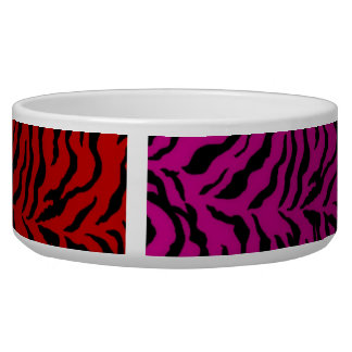Multi Zebra Colored Dog Dish